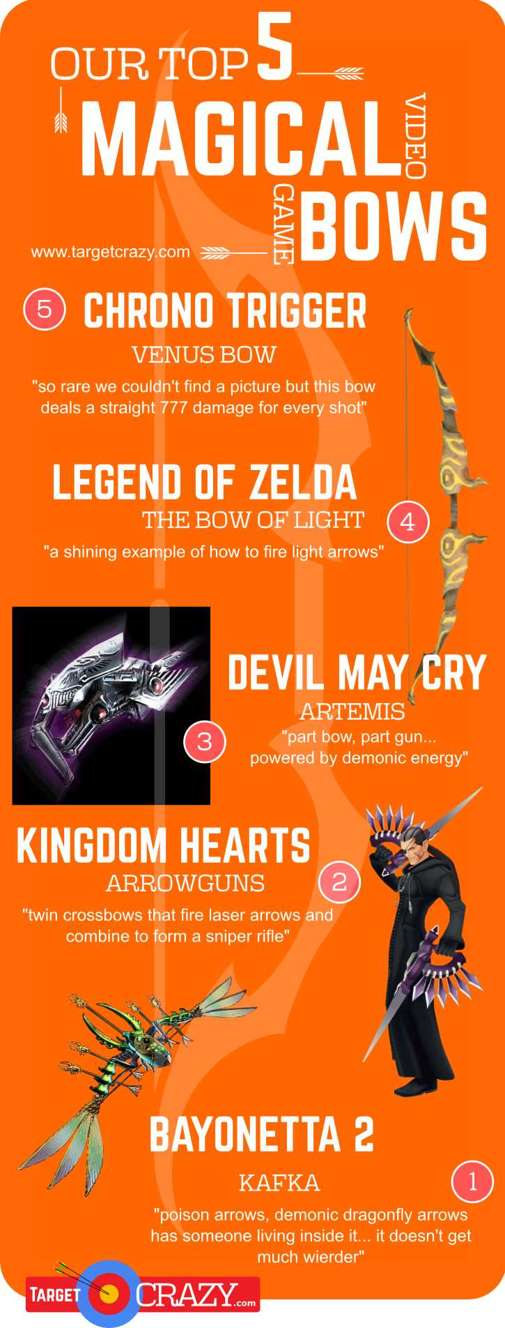 5 Magical Video Game Bows
