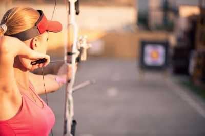 Female target archer burning 144 calories / hour